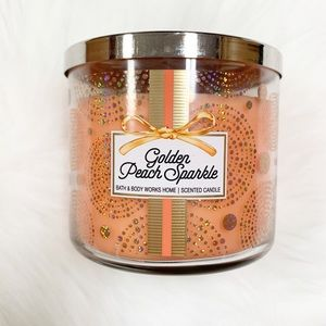 Bath and Body Works || Golden Peach Sparkle 3-wick